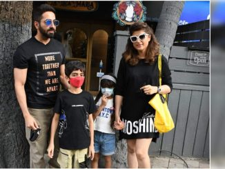 Ayushmann Khurrana enjoys a family lunch outing with wife Tahira Kashyap and kids - Times of India
