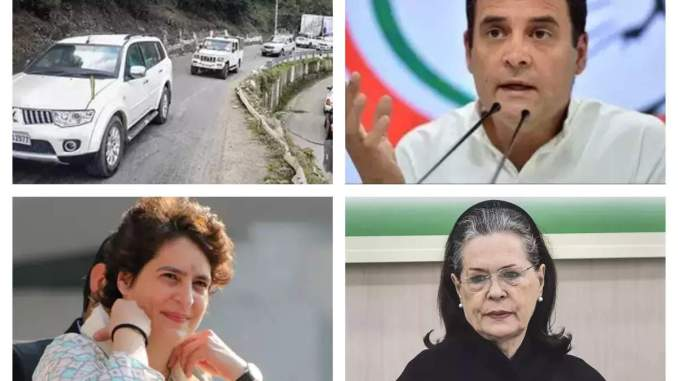 Gandhi family relax after Channi's coronation?  Sonia, Rahul and Priyanka reached Shimla for the holiday