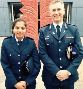 For Web-Educational approach to Police- Mike Bush with Constable Shazmeen Khan