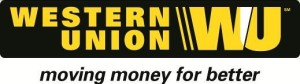 Indian villagers see- Western Union Logo