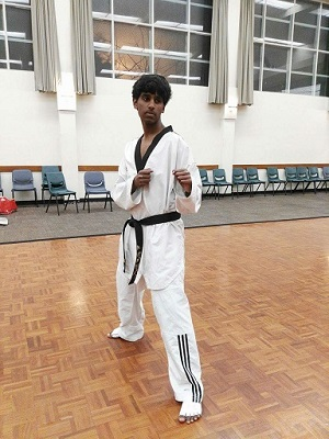 Our young Taekwondo hero- Srikar Masanam Web
