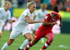 Football Ferns eye World Cup-Ferns in action in 2015 World Cup