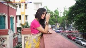 इंडियन रंडी साड़ी ब्लाउज में मोटे मोटे बोबे दीखते हुए Indian Randi In Yellow Saree Xxx (12)