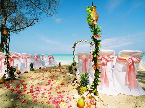 Indian wedding cards, Beach Side Wedding