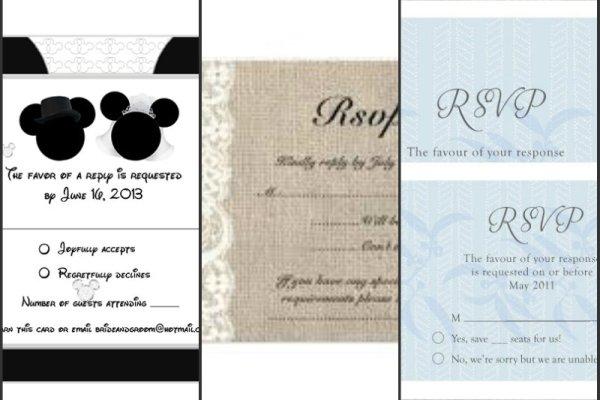 RSVP-cards