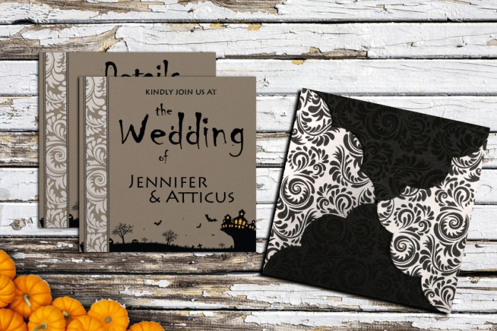 Halloween Theme Wedding Invitations
