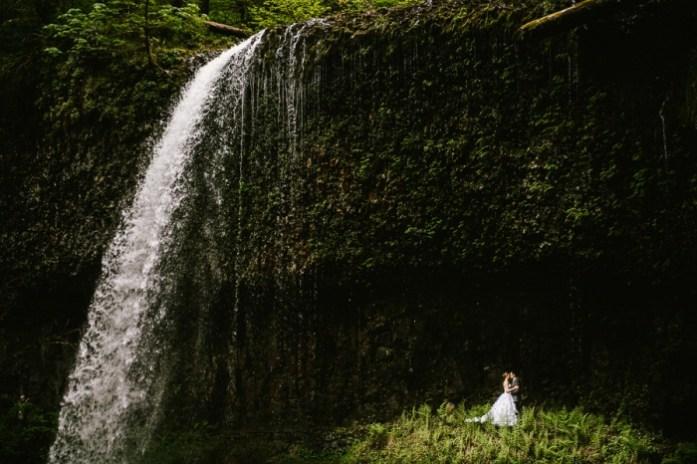 Waterfall Wedding - IndianWeddingCards