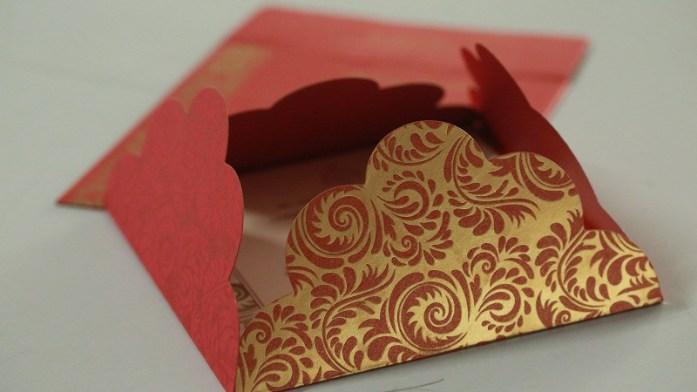Odd shaped wedding invitation-CD-8235C