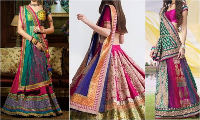 Multicolor Lehengas - IndianWeddingCards