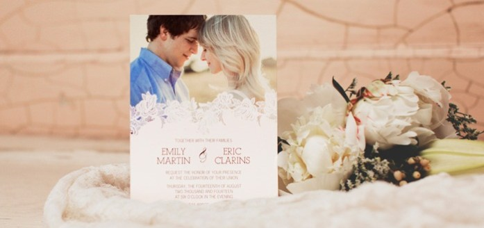 Own Picture Wedding Invitations - IndianWeddingCards