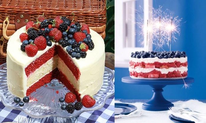USA Patriotic Theme Wedding Cake