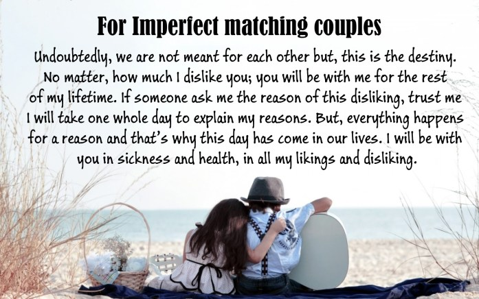 For Imperfect matching couples