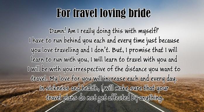 For travel loving bride