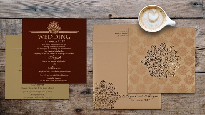 Hindu wedding invitations cards CD-1687