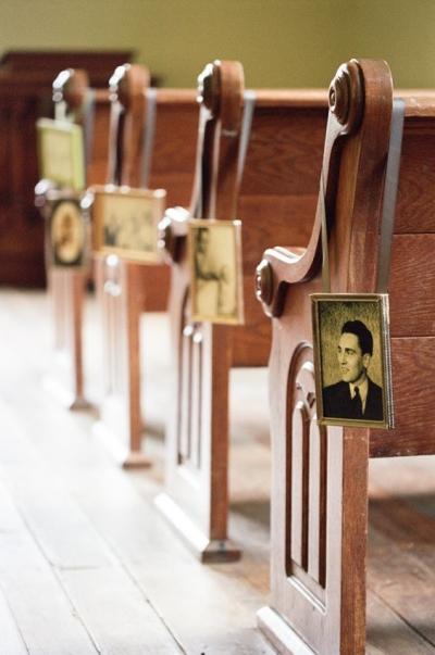 Framed family photographs - Aisle Decoration Ideas