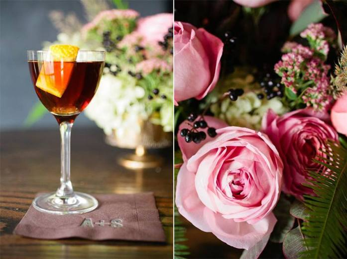 colored cocktail and summer wedding ideas