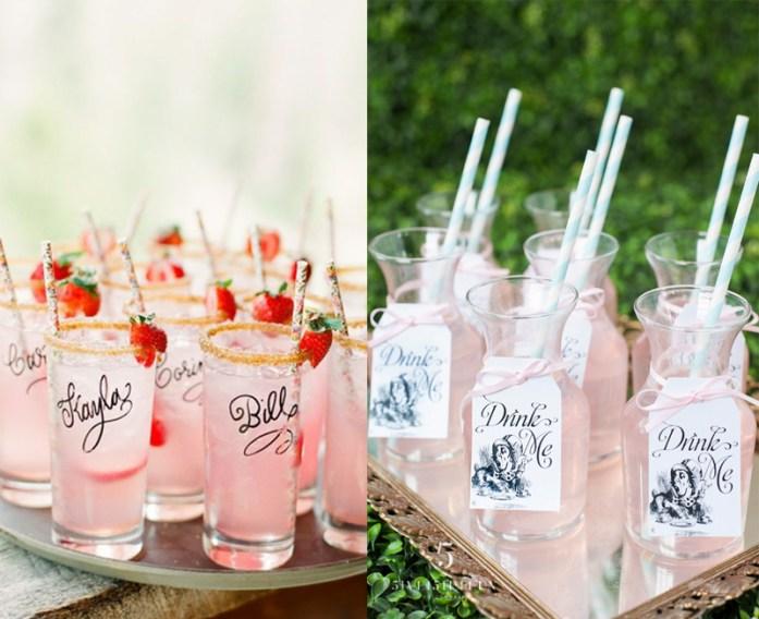 Alice in wonderland signature cocktail - Disney Theme Wedding Ideas
