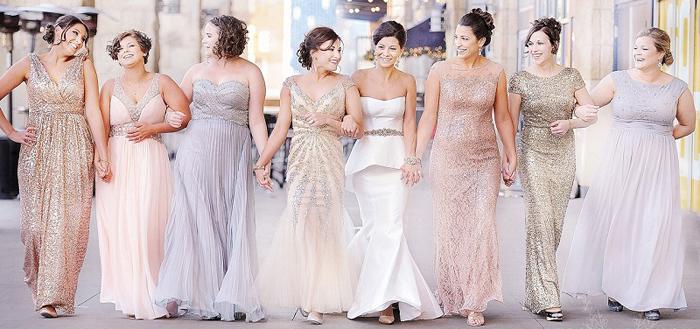 Glitter themed wedding