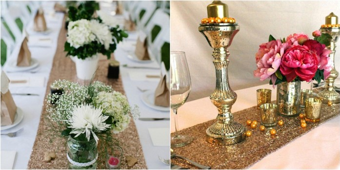 Glitter wedding table decoration