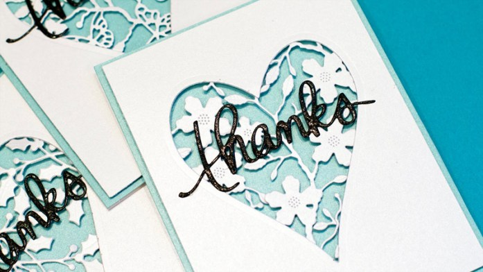 lasercut thank-you cards
