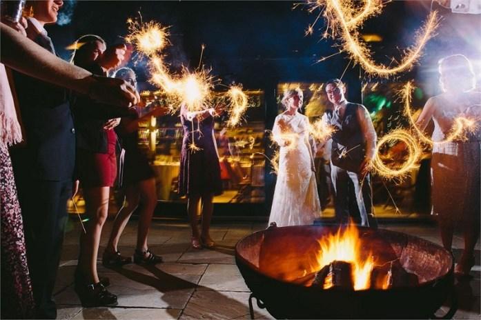 Fall wedding fire pits