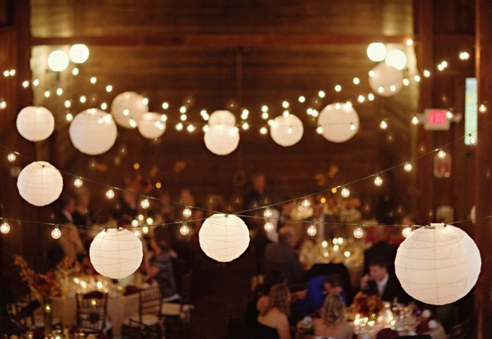 Foil wedding tiny lights