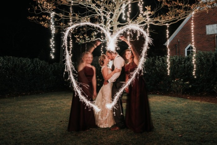 wedding portraits magical with sparklers 9