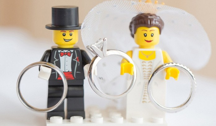 Lego inspired wedding ring