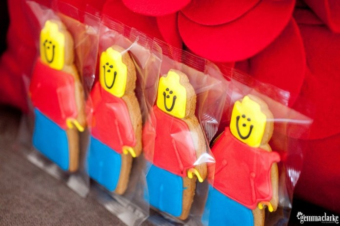 Lego wedding cookies favors