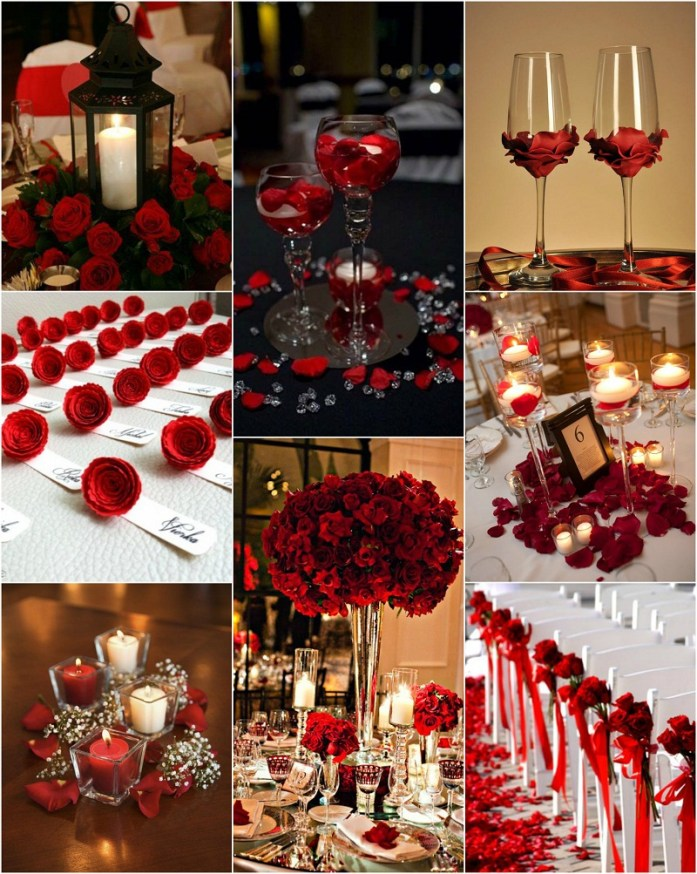 Red color wedding decor ideas and inspiration