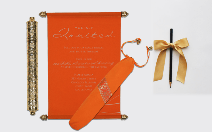 Scroll wedding invitationsCSC-5005G