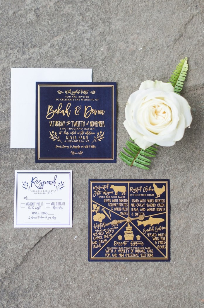 Velvet wedding invitations