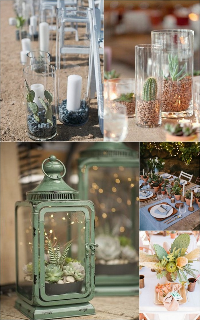 Cactus wedding décor