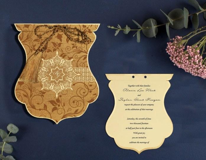 Die cut wedding cards CD-8229O