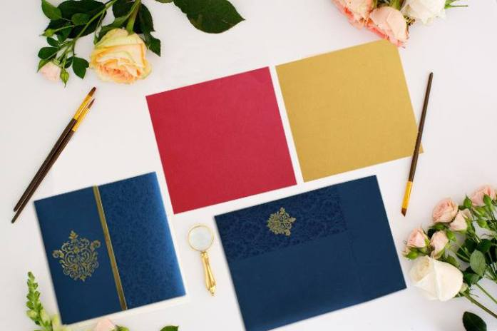 Foil stamped wedding invitations CIN-1503