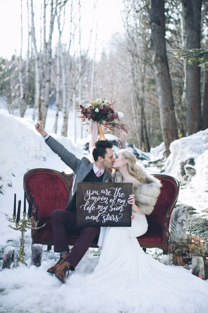 Freeze a Splendid Night with these Wintry Wedding Ideas