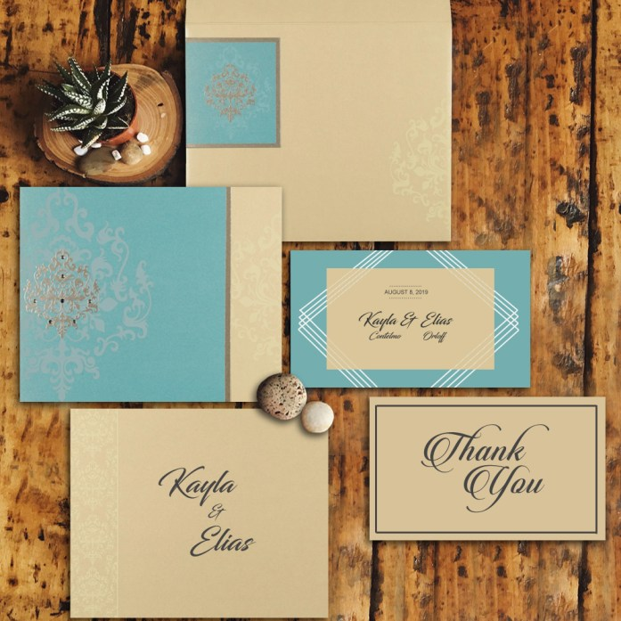 A sea-inspired wedding invitation