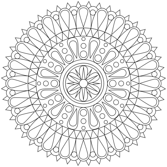 Coloring Pages  Free Geometric Coloring Page For Adults Flowers