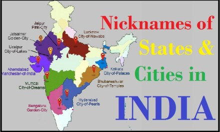 Nick Name of Famous Indian Places Cities