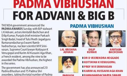 Padma Vibhushan Award 2015