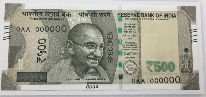 New Indians Rs 500 Note