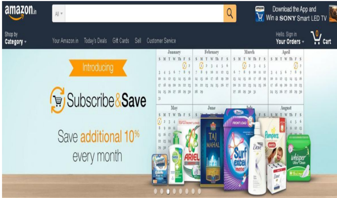 Subscribe and Save programme launched by Amazon