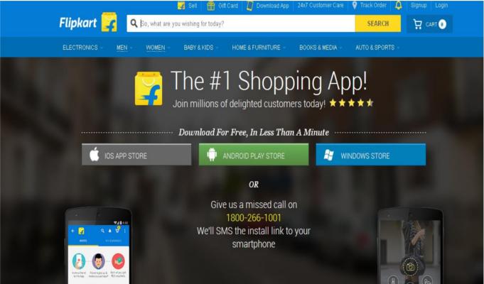 Flipkart captures half of India's online smartphone purchases