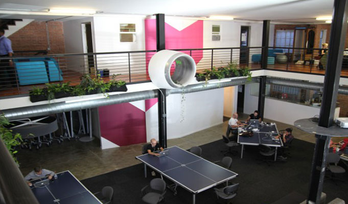 innovative office ideas. Startups Keep It Cool With Innovative Offices; Attract Employees, Clients - Indiaretailing.com Office Ideas