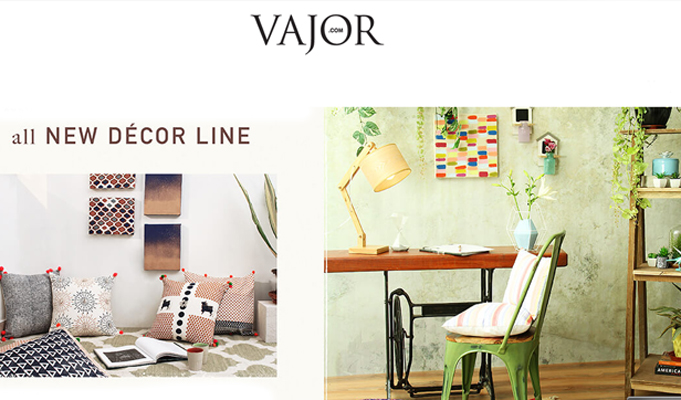 Fashion e-commerce player Vajor enters lifestyle segment with home decor