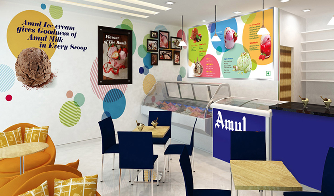 Brand Design Concept How Amul Parlours Went From Drab To Fab