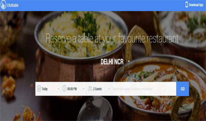 Clicktable debuts to provide hassle free table reservations
