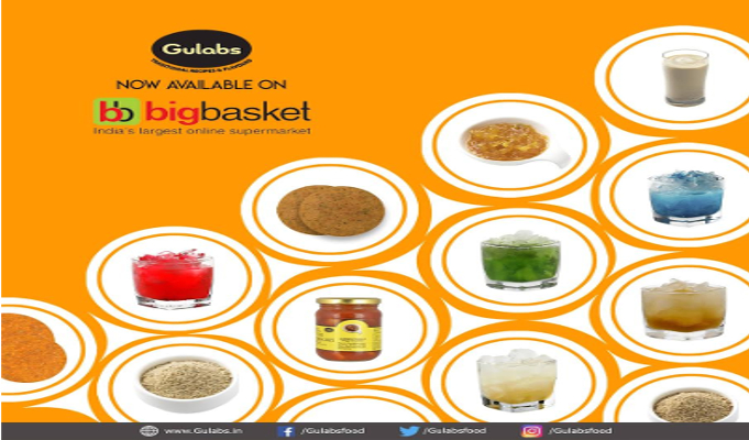 Gulabs partners with BigBasket for distribution in Chennai, Bangalore, Mumbai, Pune and Hyderabad
