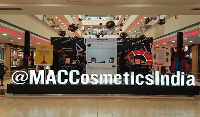 MAC Cosmetics in association with Express Avenue celebrates National Lipstick day 2018