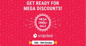 Snapdeal's 5-day Mega Diwali Sale starts on October 10